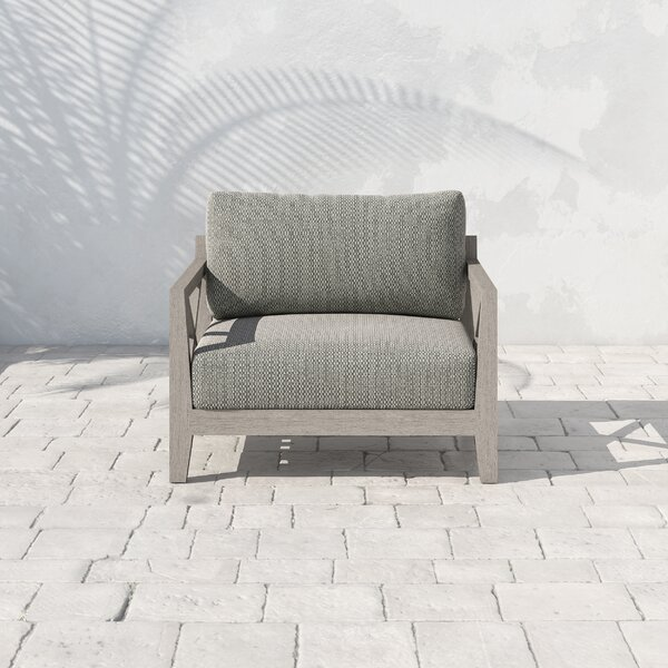 Franko Huntington Teak Patio Chair with Cushions by Bungalow Rose