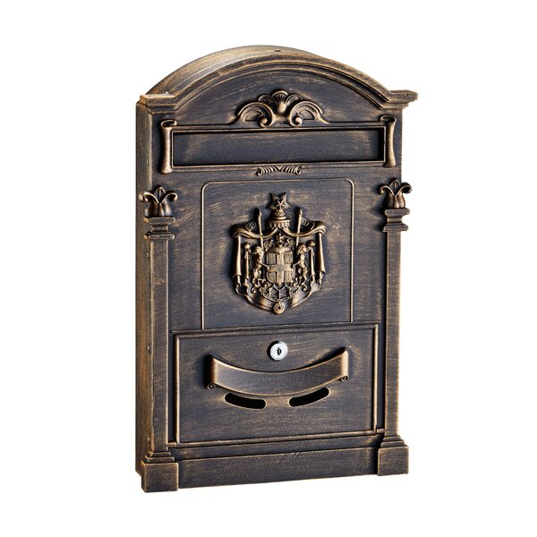 Coat of Arms Locking Wall Mounted Mailbox by AdirHome