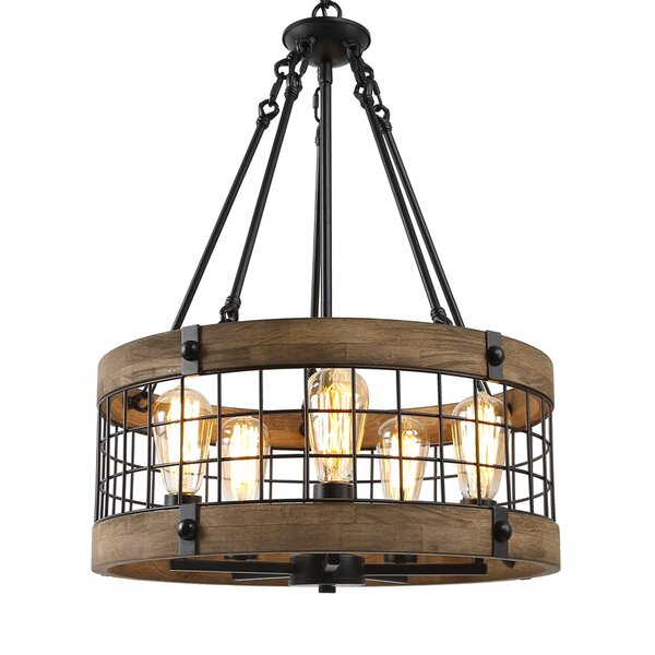 Marchetti 5-Light Lantern Drum Chandelier with Rope Accents by 17 Stories 17 Stories