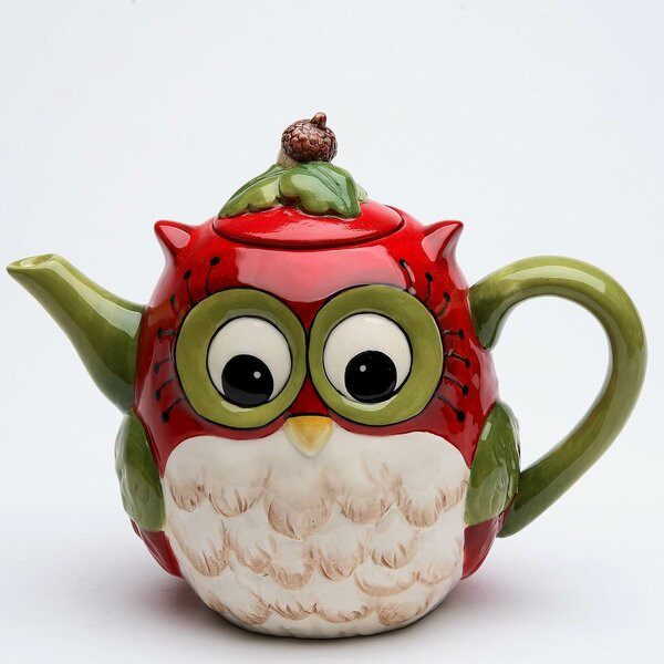 Owl 24 Oz. Earthenware Teapot by Cosmos Gifts