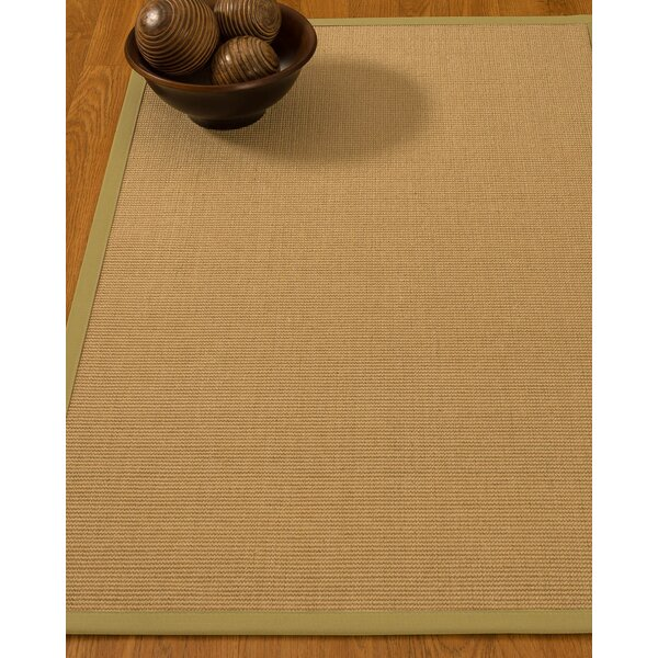 Buser Hand-Woven Beige Area Rug by Longshore Tides