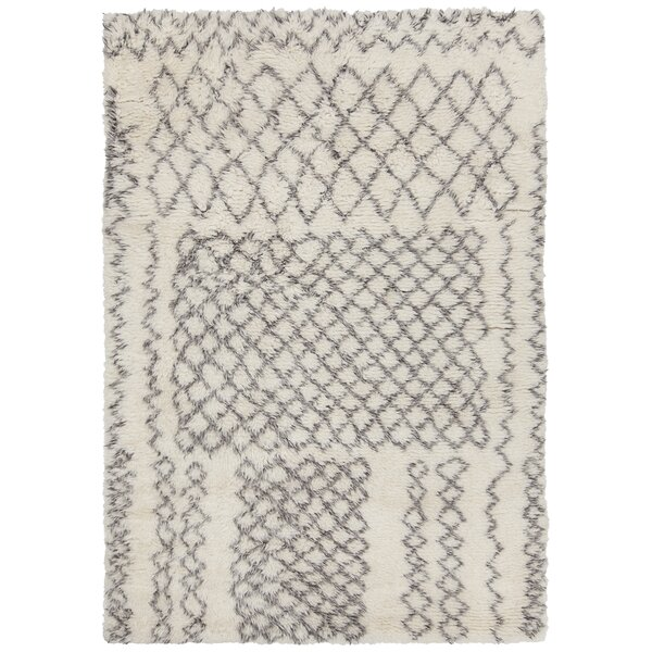 Altamont Hand-Knotted Ivory/Gray Area Rug by Foundry Select