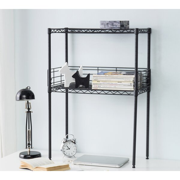 Burroughs Mini Desktop Carbon Steel Standard Bookcase by Rebrilliant