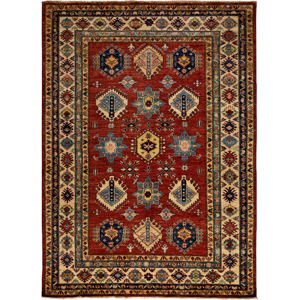 One-of-a-Kind Kazak Hand-Knotted Rust Area Rug by Solo Rugs