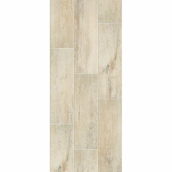 Avenues Plank 7 x 22 Ceramic Field Tile in Flax by Shaw Floors