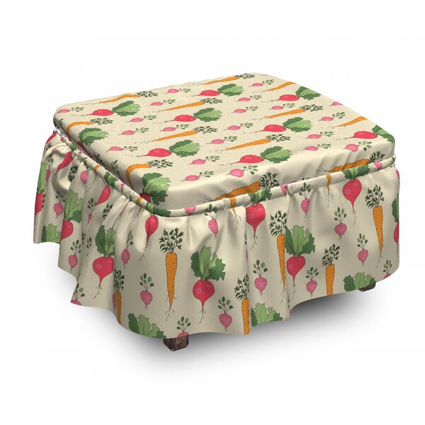 Radishes And Beets Ottoman Slipcover (Set Of 2) By East Urban Home