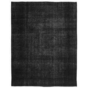 Inexpensive One-of-a-Kind Ogallala Hand-Knotted 10' X 13' Wool Black Area Rug By Isabelline
