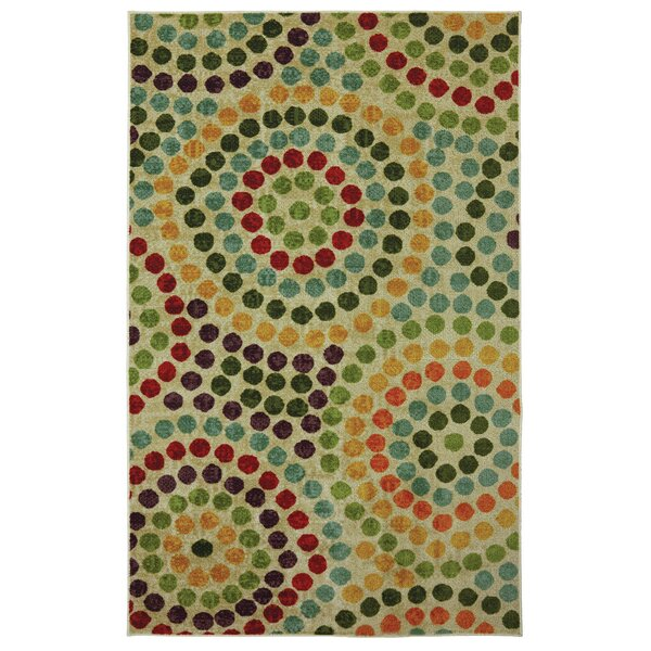 Cragmere Mosaic Stones Blue/Green Area Rug by Latitude Run