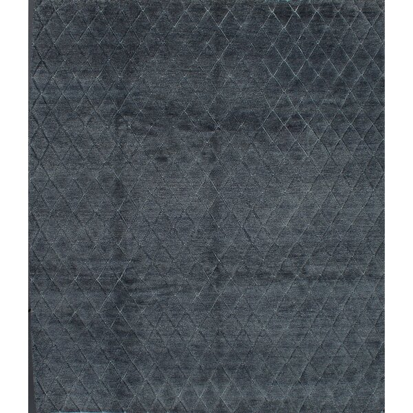One-of-a-Kind Rochel Hand-Knotted Dark Gray Area Rug by Isabelline