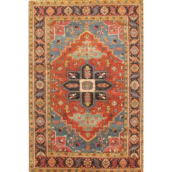 Heriz Hand-Knotted Rust Area Rug by Pasargad