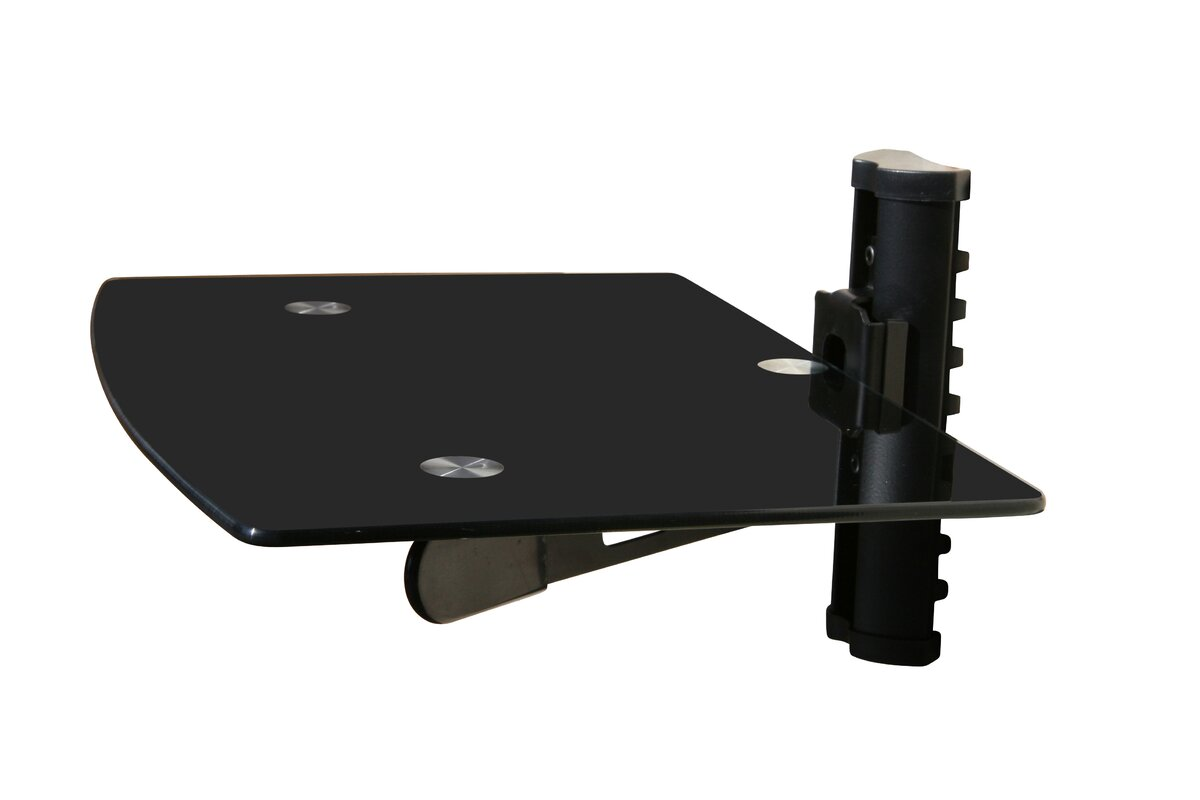 Mount It Wall Mounted TV And Component Shelf Combo DVD DVR