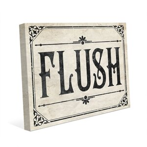 'Rustic Flush Paper' Textual Art on Wrapped Canvas by Click Wall Art