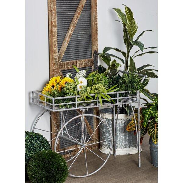 Rustic 2-Wheel Wheelbarrow Planter by Cole & Grey