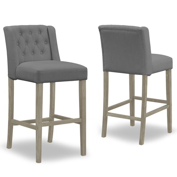 Genevra 30.25 Bar Stool (Set of 2) by One Allium Way