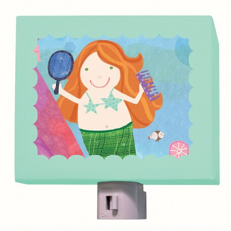 Red Headed Mermaid Night Light by Oopsy Daisy
