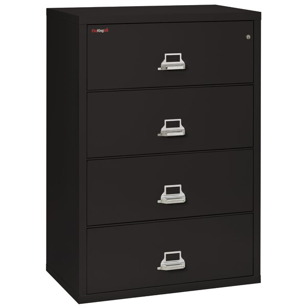 Fireproof 4-Drawer Vertical File Cabinet by FireKing
