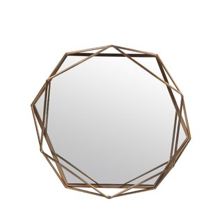 Mercury Row Dekalb Iron Hexagonal Wall Accent Mirror