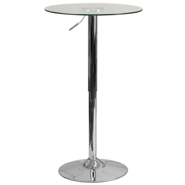 Jazmin Adjustable Pub Table by Ebern Designs