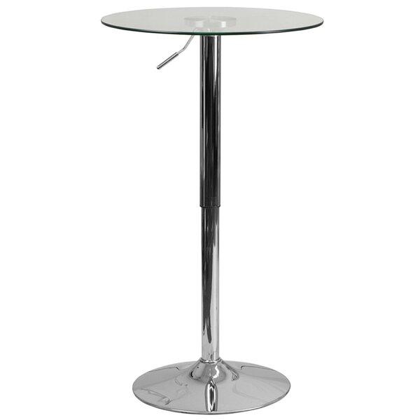 Jazmin Adjustable Pub Table by Ebern Designs