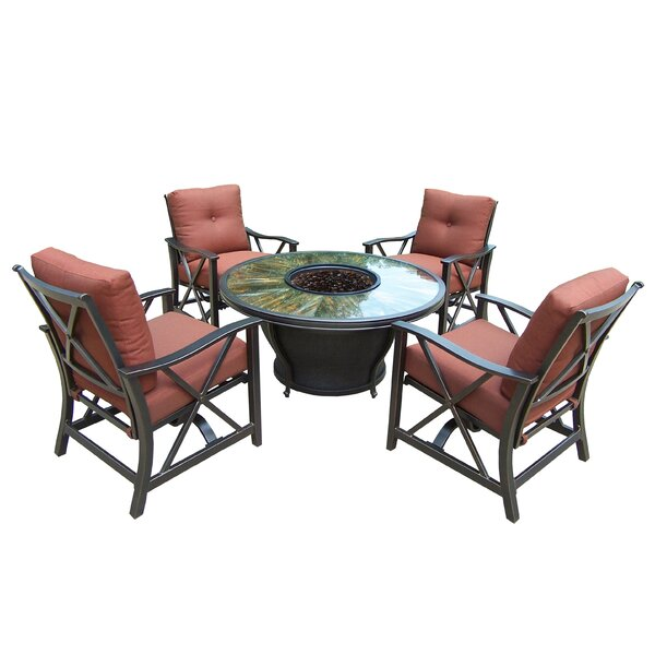 Paxtonville 8 Piece Conversation Set with Cushions by Darby Home Co