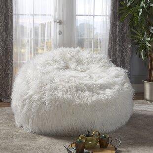 Superbe Faux Fur Bean Bag Chair | Wayfair