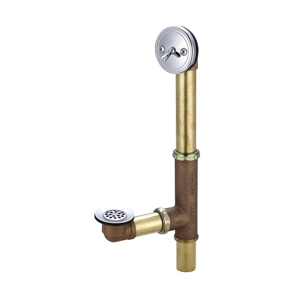 Trip Lever Lift and Turn Tub Drain by Central Brass
