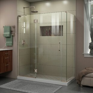 Affordable Unidoor-X 59 1/2 in. W x 34 3/8 in. D x 72 in. H Frameless Hinged Shower Enclosure By DreamLine