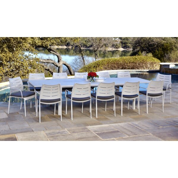 Bemelle 13 Piece Sunbrella Dining Set with Cushions by Ebern Designs