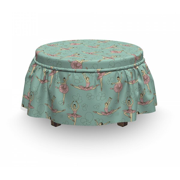 Ballerinas In Various Poses Ottoman Slipcover (Set Of 2) By East Urban Home