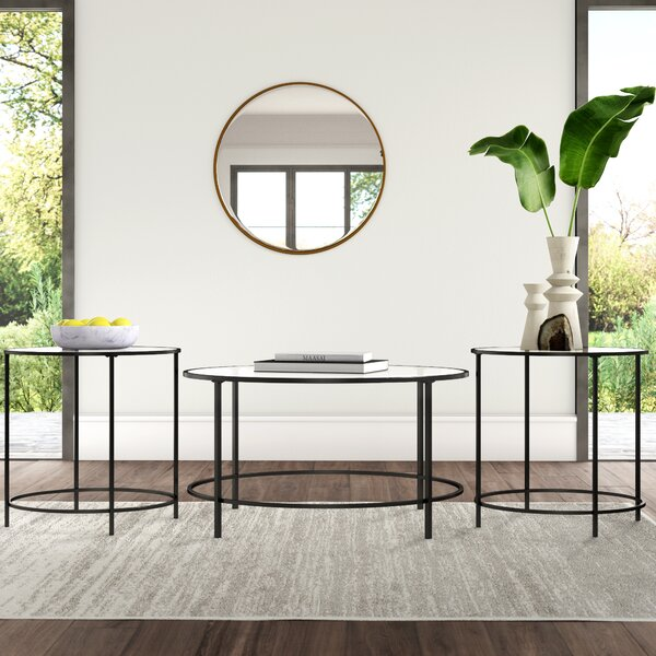 Deford 3 Piece Coffee Table Set