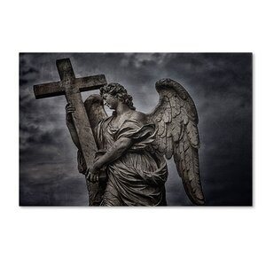 Bernini's Statue of Angel by Erik Brede Photographic Print on Wrapped Canvas by Trademark Fine Art