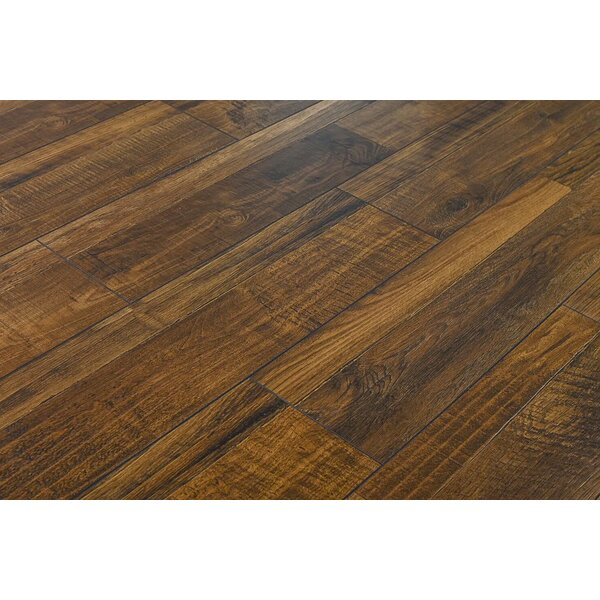 Steve 7.6 x 48 x 12mm Oak Laminate Flooring in Rustic Java Ruby by Serradon