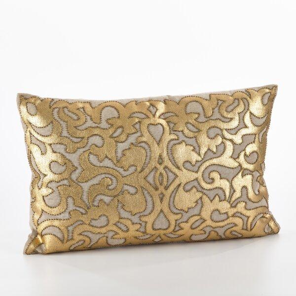 Aura Cotton Lumbar Pillow by Saro