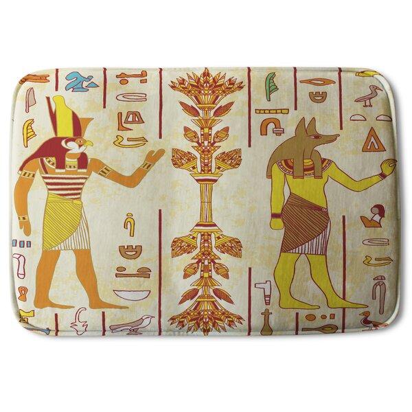 Biddeford Gods and Ancient Hieroglyphs Designer Bath Rug