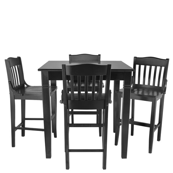 Weintraub 5 Piece Pub Table Set by Red Barrel Studio