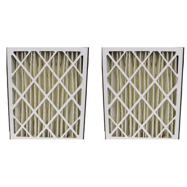Pleated Furnace Air Filter (Set of 2) by Crucial