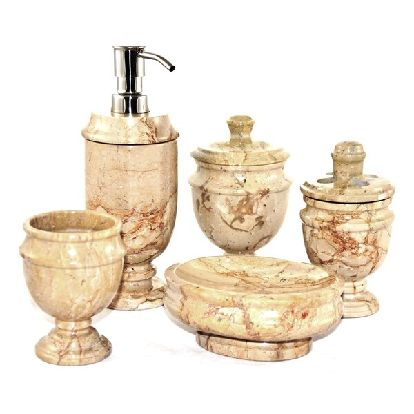 Siberian 5-Piece Bathroom Accessory Set by Nature Home Decor