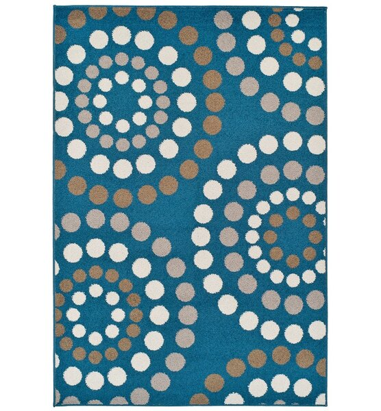 Truex Wool Blue Indoor/Outdoor Area Rug by Wrought Studio