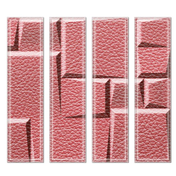 Crystal 3 x 12 Beveled Glass Subway Tile in Pink by Upscale Designs by EMA