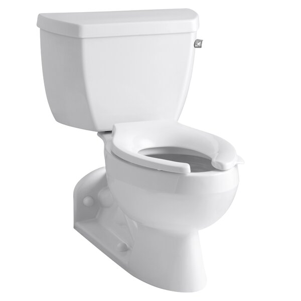 Barrington Two-Piece Elongated 1.0 GPM Toilet with Pressure Lite Flushing Technology and Right-Hand Trip Lever by Kohler
