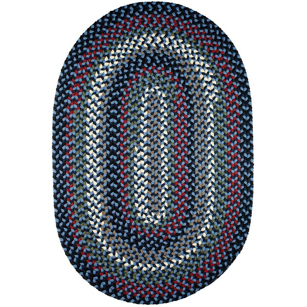 Handmade Navy Indoor/Outdoor Area Rug by The Conestoga Trading Co.