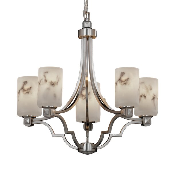 Firmin 5 - Light Shaded Classic / Traditional Chandelier by Wrought Studio Wrought Studio