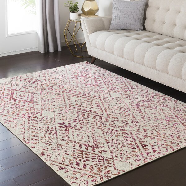 Tierney Pink/Cream Area Rug by Mistana