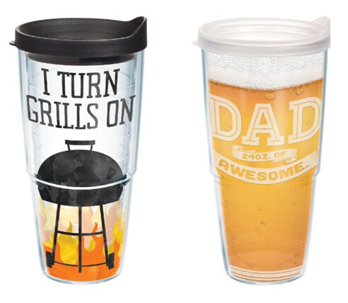 Awesome Dad and Grilling Gift 2 Piece 24 oz. Plastic Travel Tumbler Set by Tervis Tumbler