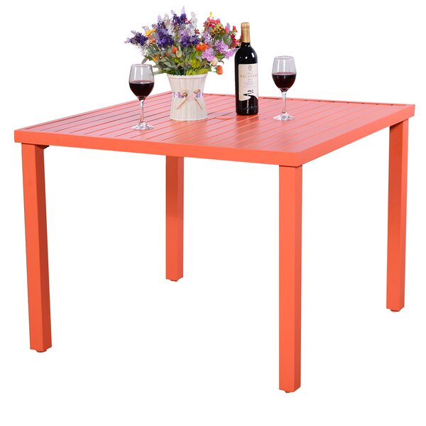 Phillipps Patio Dining Table by Ebern Designs