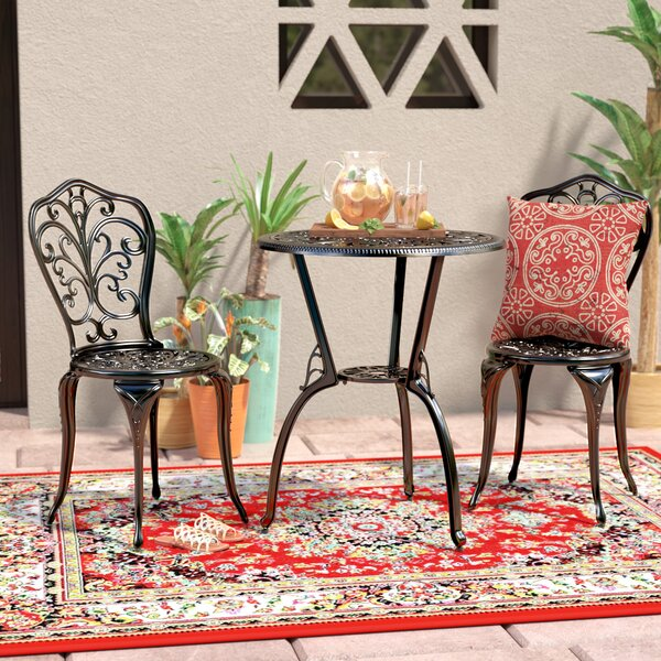 Erik 3 Piece Bistro Set by World Menagerie