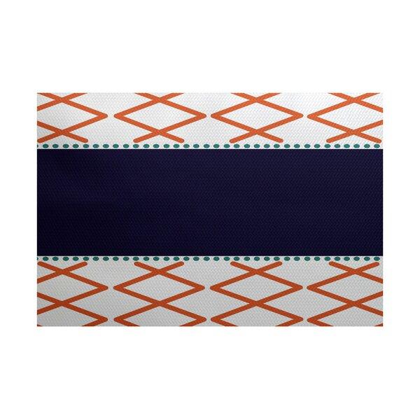 Bartow Orange/Purple/Gray Indoor/Outdoor Area Rug by Breakwater Bay