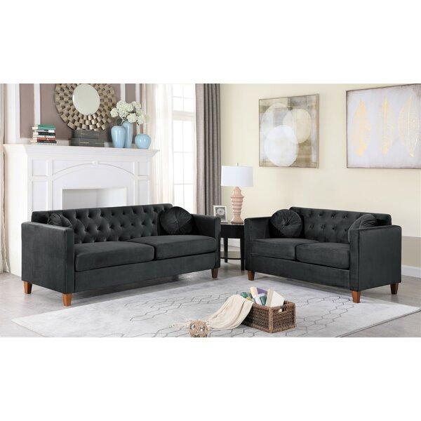 Rashid 2 Piece Living Room Set By Everly Quinn