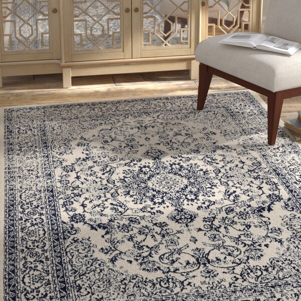 Samuel Gray/Ivory Area Rug by Bungalow Rose