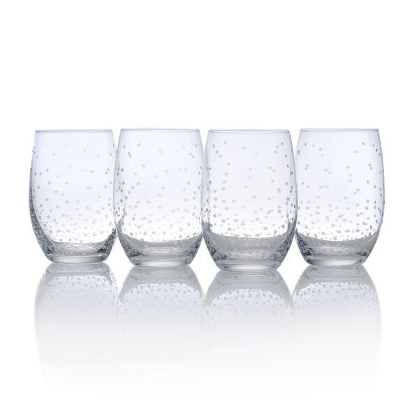 Celebrations 17 oz. Glass Stemless (Set of 4) by Mikasa